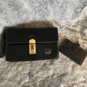 Dunhill Porch Clutch Unisex Leather Wristlet